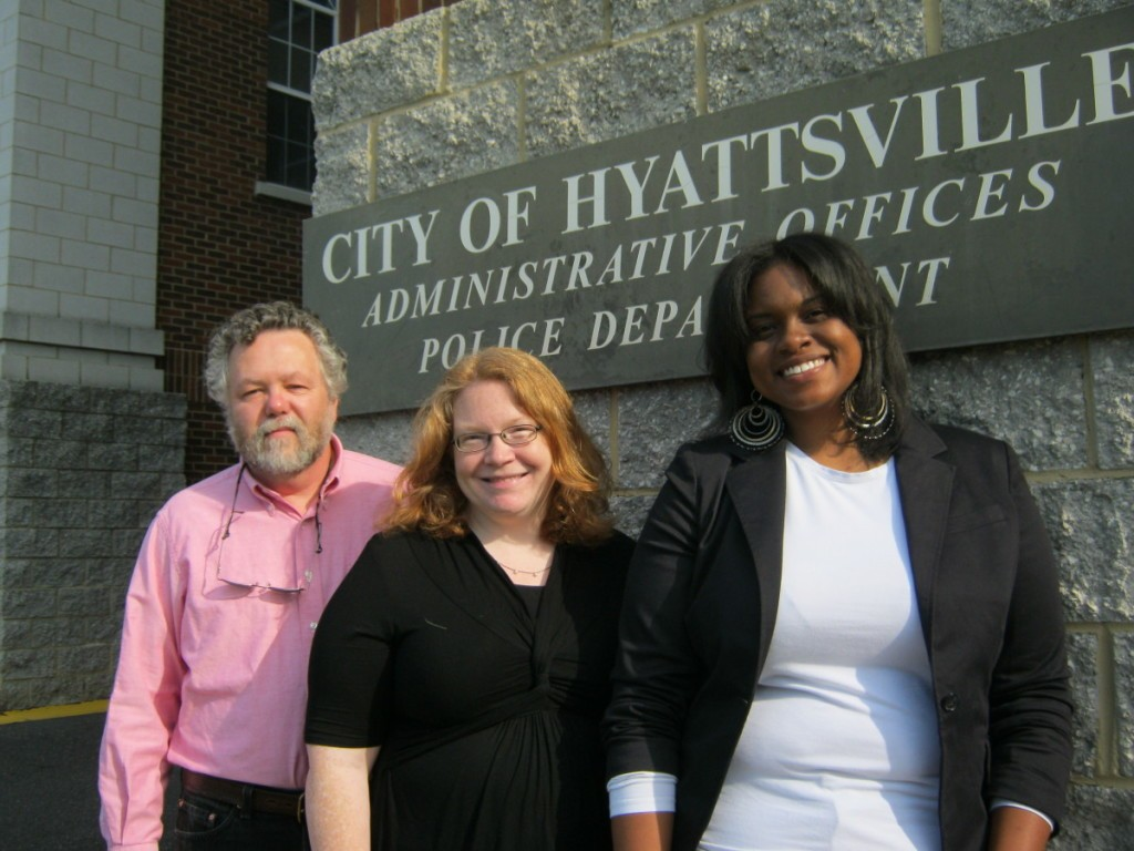 Incoming Mayor Marc Tartaro with newly minted City Council members Shani Warner (center, Ward 2) and Candace Hollingsworth (Ward 1). Photo courtesy Susie Currie (May 2011)