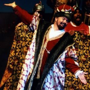 "Shawn Perry as King Gama in ""Princess Ida."" Photo courtesy Drake Sorey."