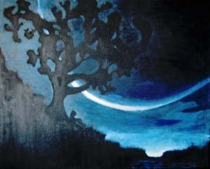 """Crescent Moon,"" by award-winning artist Romare Marshall, 14."