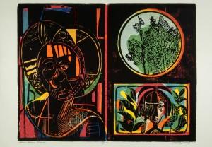 """African Women Windows"" (2004) by David Driskell."