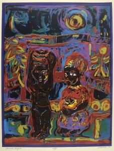 """Yoruba Couple,"" by David Driskell."