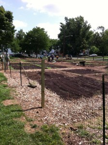 Planting time at the Hyattsville Community Garden. Photo courtesy Dave Roeder. (2011)