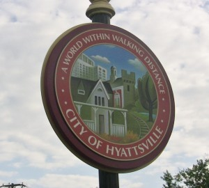 Hyattsville seal sign for stock. Photo courtesy Susie Currie.