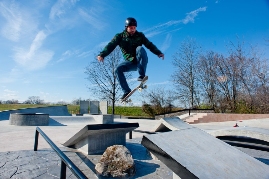 Melrose Skate Park first users December 2011
