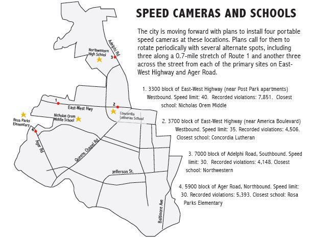 Speed Cameras 0412 map