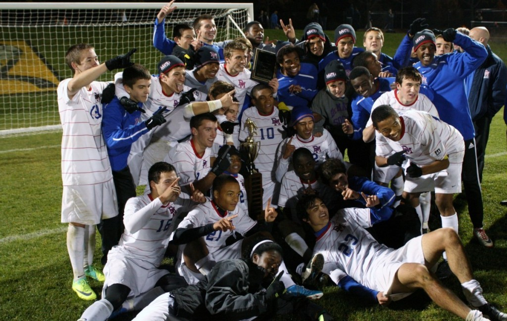 The DeMatha varsity soccer Stags, undefeated for a second season. are number one in national rankings. Photo courtesy DeMatha Catholic High School.