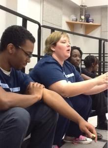 Chorus members discuss fundraising ideas at a meeting at Northwestern High School.  Photo courtesy Rosanna Landis Weaver.