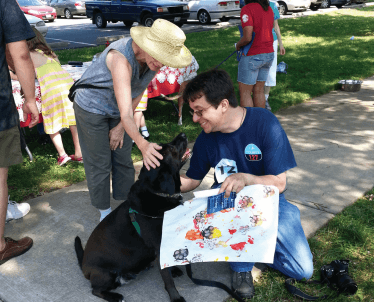 Dogs for the Arts lets pets paint