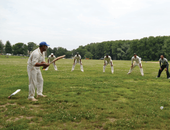 Cricket teams go to bat on local fields