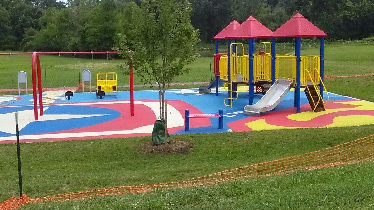 New playground in Heurich Park