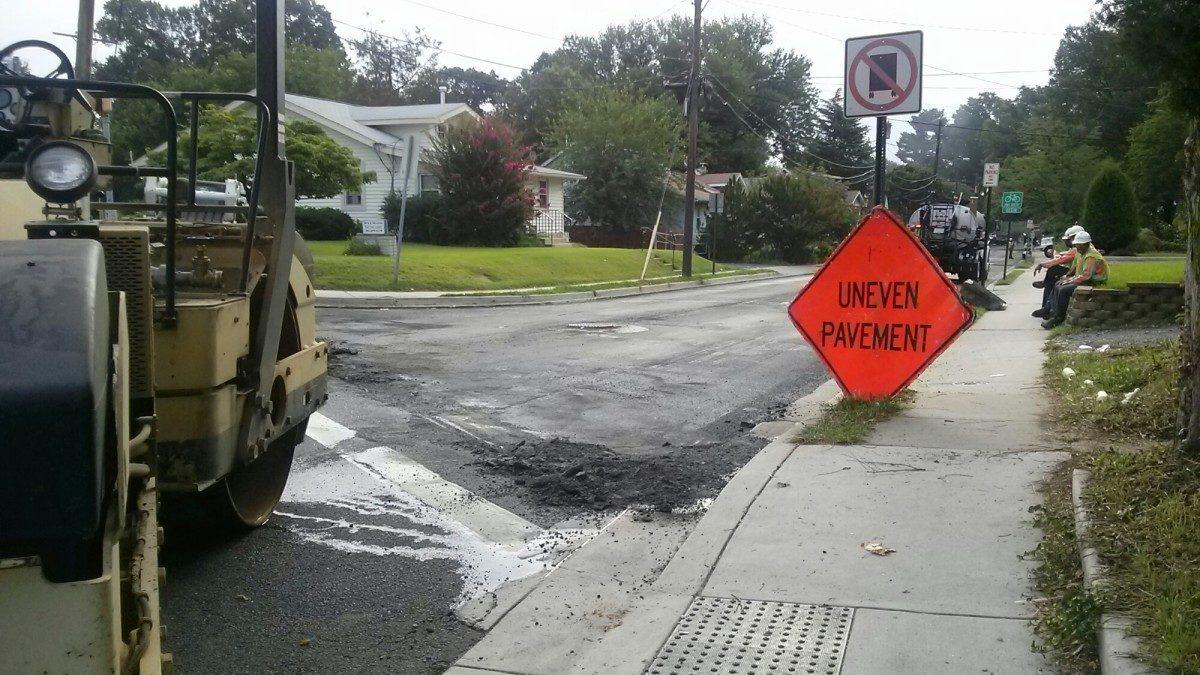 Queensbury Road repaving begins