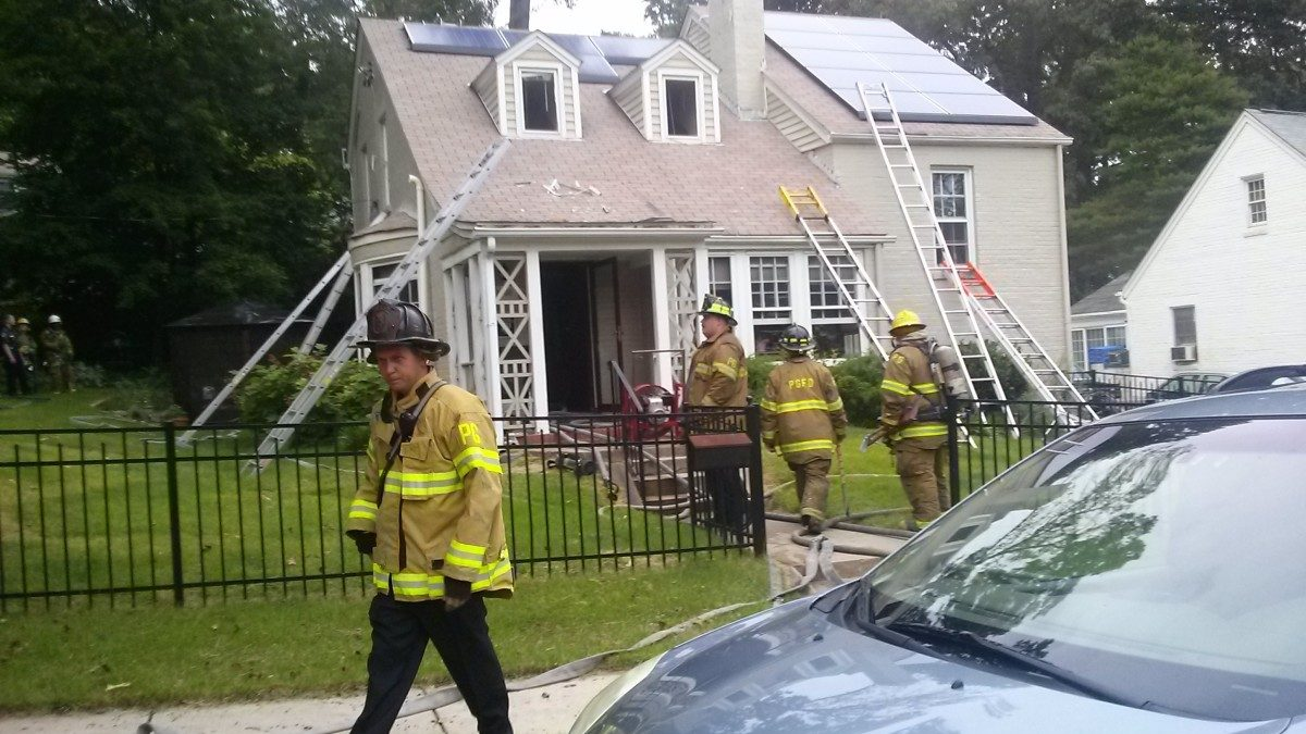 Attic fire at Kennedy and 39th Street