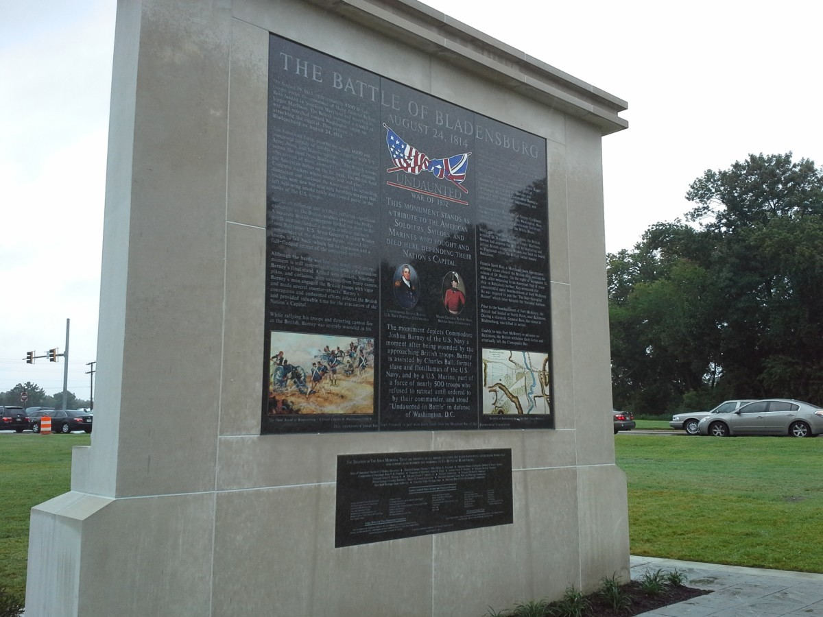 Battle of Bladensburg Memorial.  Photo courtesy Susie Currie.