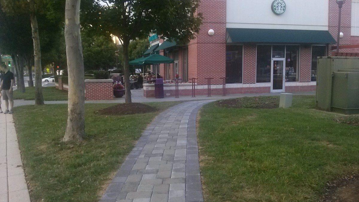 PHOTO: Starbucks gets new stone walkway