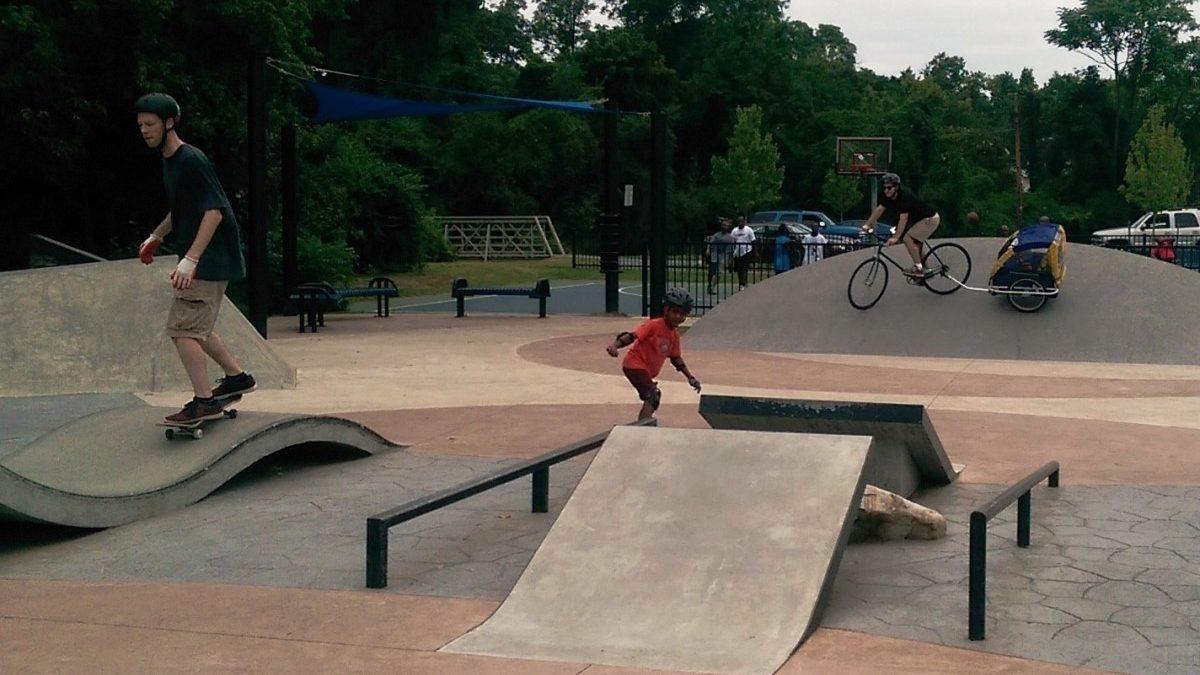 PHOTO: Hyattsville's skate park is not just for teens