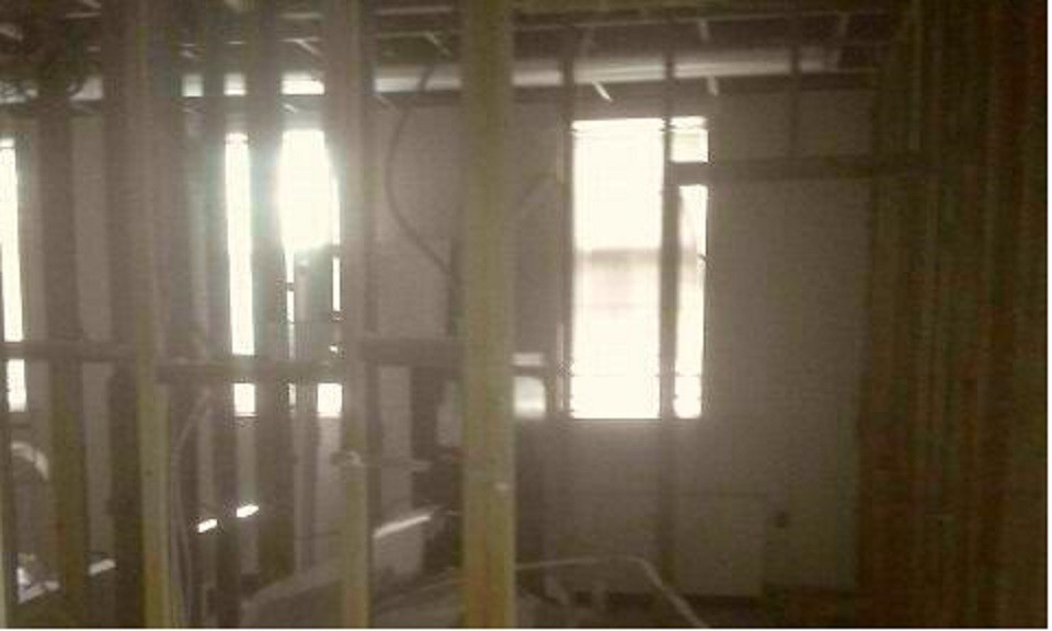 Temporary fire station renovation begins