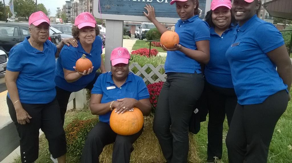 PHOTO: Belcrest Plaza employees hat up for breast cancer awareness