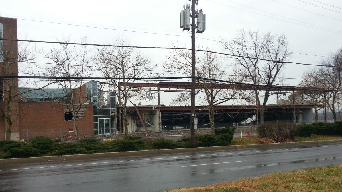 Demolition underway at Kiplinger property