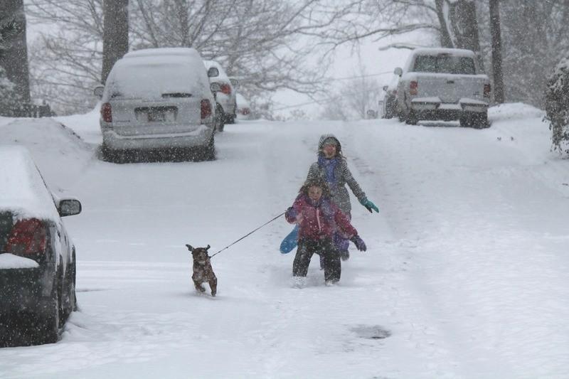 Winter weather coats neighborhood; closes schools and delays city business