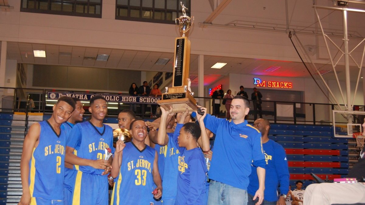 St. Jerome varsity boys win Mid-Atlantic Basketball City Championship