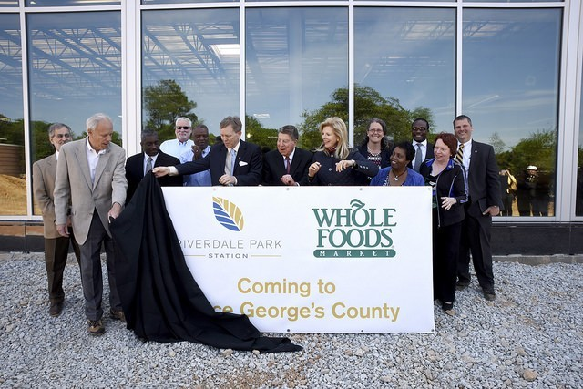 Officials reveal Whole Foods sign, announce hotel at Riverdale Park Station