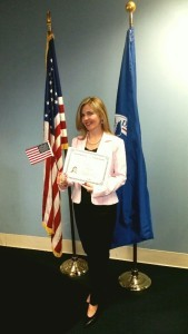 Rosalina Justiniano was naturalized in a ceremony hosted by the City of Hyattsville on May 7. Photo courtesy of Rosalina Justiniano.