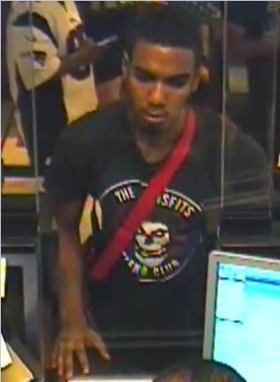 The Hyattsville Police Department is working to identify the suspect shown in the surveillance photograph.