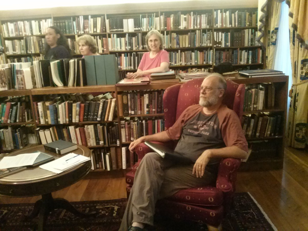 Group president Alan Mattladge (seated).  Photo courtesy Rebecca Bennett.