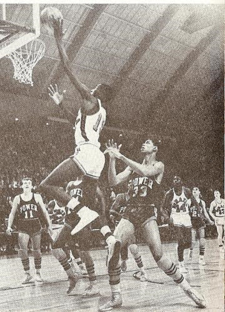 No. 33 for Power Memorial is Kareem Abdul-Jabbar - then known as Lew Alcindor - the all-time leading scorer in NBA history. Photo courtesy DeMatha Catholic High School.