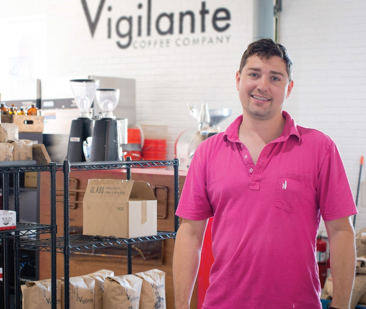 Daniel Simon is leasing space in his newly renovated building on Gallatin Street to Vigilante Coffee Company, which is scheduled to open July 19. Photo courtesy Andrew Marder.
