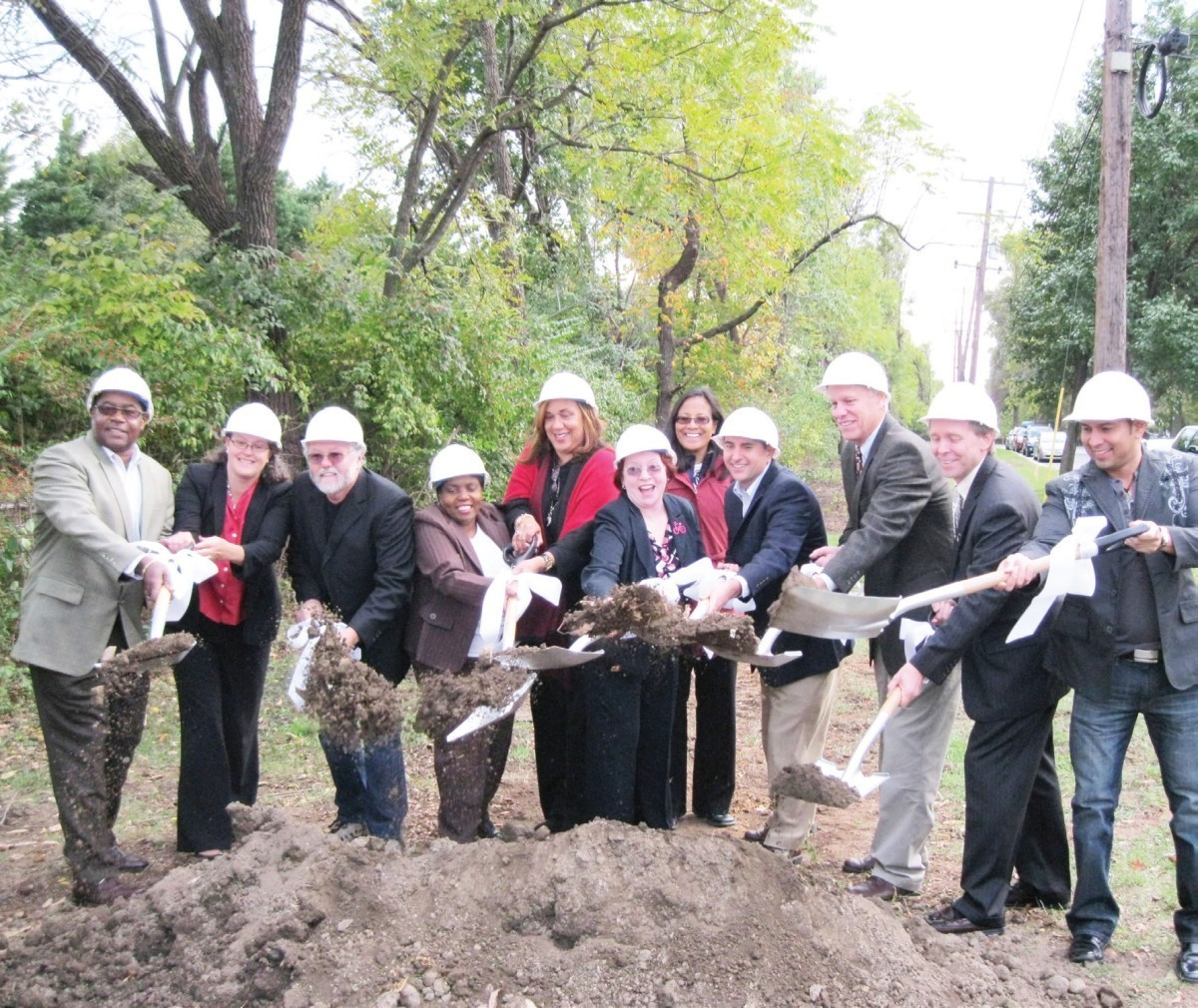Several elected officials from the city, state and county gathered to break ground on a trail that will connect Hyattsville to Riverdale Park.
