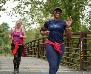 Runners on the Paint Branch Trail