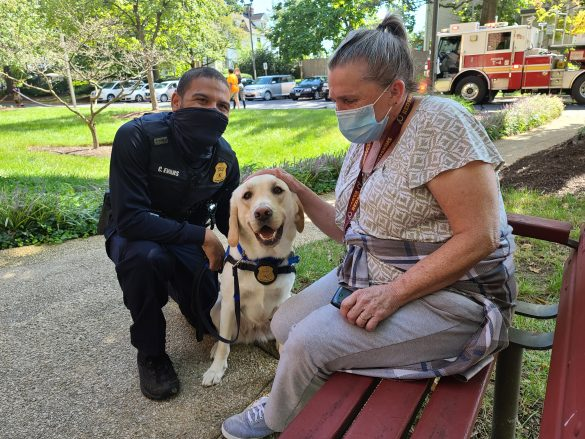 Nola and Cpl helping after apartment fire