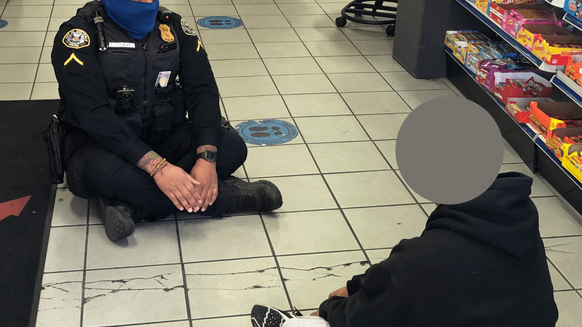 Officer sits down, makes the news